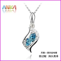 FREE SHIPPING women new fashion 2014 summer spring Geometric Pendant Necklace Made With Swarovski Elements#74515
