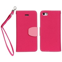 Flip Wallet PU Leather TPU Stand Pouch Book Case with Card Holder for iPhone 5 5G Free shipping