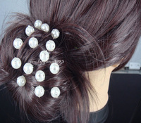 10Pcs Wedding Bridal White Pearl Crystal Hair Pin Hair Accessory A-1