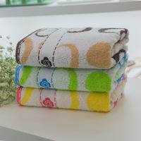 Free Shipping, 3pcs/Lot 100% Cotton Face Towel 74X34CM 102g/piece