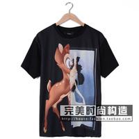 Man spring 2014 Hip Hop Women Men's Fashion Designer Giraffe T Shirt Brand GIV Ktz Tee Shorts