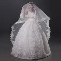 Wedding dress formal dress 2014 bridal accessories quality laciness handmade veil ultra long bridal veil