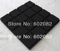 12pcs Hing Quality Acoustic Grid Foam Panels Sponge Red Color  studio sound-absorption panel