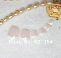 Pink French Toe Nail Tips Foot Nail Art Nails Free Shipping