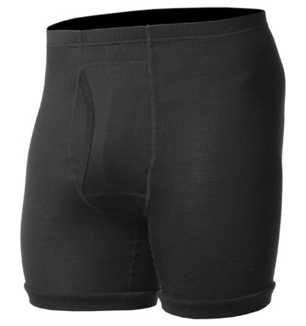 100 Merino Wool Men s Lightweight Underwear Male Black Boxer Underpant FLY Spring Outdoors Athletic Sports