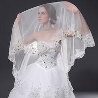 Quality handmade bridal wedding veil formal dress accessories ultra long veil long trailing kim bordered