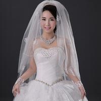 Bridal veil ultra long embellishment mantilla accessories elegant bridal veil