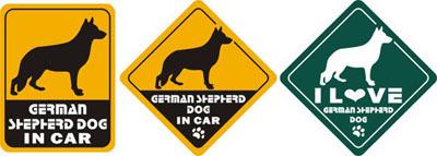 Car Stickers pet stickers German Shepherd Dog 3PCS waterproof case decal Car accessories car sticker(China (Mainland))