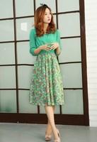 2014 Fashion Chiffon Dress women's Bohemia long maxi dress floor-length or women free shipping Wholesale 1Pcs/Lot