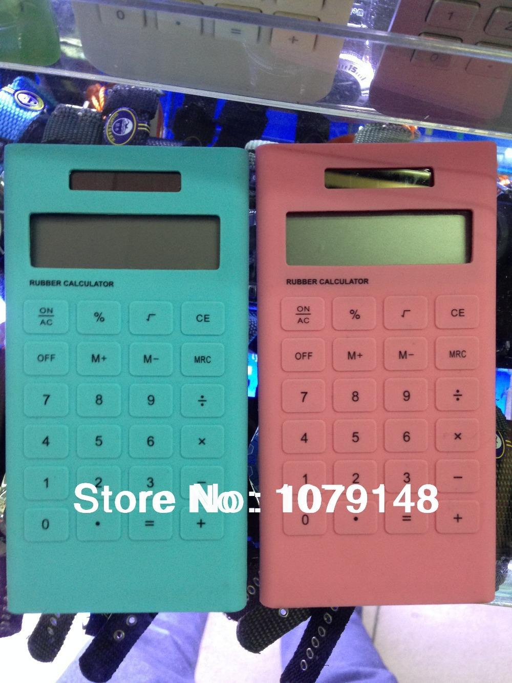 Portable Mini 10 Digits Solar Power Rubber Calculator /solar powered thin pocket calculator(China (Mainland))
