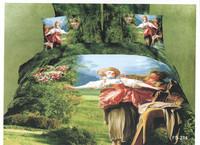100%Cotton 4pcs queen size 3D oil painting Ukraine bedding set Comforter cover /Bedcloth/bed sets (SMN229)