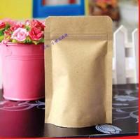 Complex aluminum sealed bag zipper bags ziplock bags kraft Independence 9 * 14 +3 food bag closure pockets