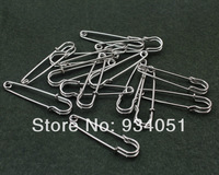 set of 100pcs Antique Silver tone Big Safety Pin Brooch 50x12mm DIY zakka item,for sweaters, scarf,cloth free shipping