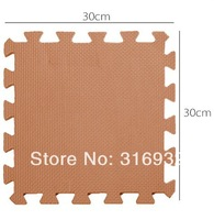 WM018 High qualiity 6pcs/lot coffee Mocha color thicken 1.4cm eva puzzle foam children's baby game play mat for kids