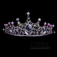 Full Crystals King Crown Tiara For Men Women