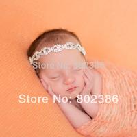 Free Shipping Golden and Silver Newbaby Rhinestone Headband,Newborn baby Hair Accessories,Girl Headband,Kids Hair Accessories