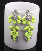 High quality fashion gem earrings rhinestone big drop earring fashion female accessories
