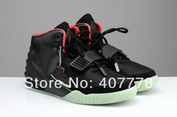 Hot sale air Yeezy II 2 AIR YEEZY 2 NRG BLACK BLACK SOLAR RED,kanye west men basketball shoes free shipping