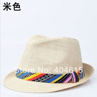 2014 top quality women and men summer popular straw knitted fedora hats
