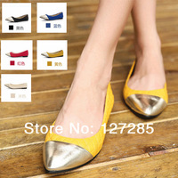 Spring new flat with mixed colors Ballerina Princess women shoes