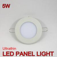 5pcs/lot FREE SHIPPING warm white/cold white 5W Ultrathin LED panel light  450lm AC85~265V