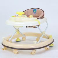 Eco-friendly multifunctional luxury baby walker band music disc 8 wheels