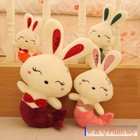 Free shipping Mermaid love rabbit toy rabbit soft stuffed doll 40cm lover's gift