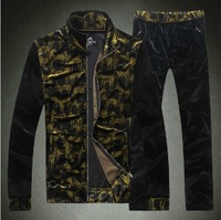 2014 brand new fashion famous brand men's tracksuit sportwear jacket+pants 2 pieces set