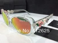 freeshipping  top quality sunglasses Women dg4183 rose sunglasses ceramic flower sun glasses Women brand shades