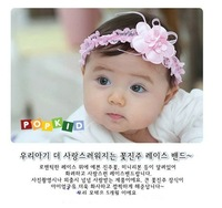 New Baby Girl's princess pearl lace Hair Accessories child baby headband Infant Hair Band -46