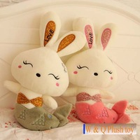 Free shipping Mermaid love rabbit toy rabbit soft stuffed doll 63cm lover's gift