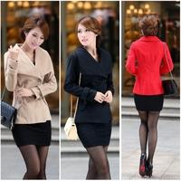 Outerwear long-sleeve autumn and winter woolen outerwear women's