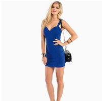 Free Shipping new 2014 summer bodycon sexy dress women low collar for parties