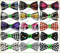 33 designs print color Children bow tie kid's bowtie child silk neckwear baby bow tie two-layer 20pcs/lot free shipping