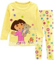 2pcs set 2014 new arrive Hot Sell Baby  Kids Minnie Pajamas sets Boys  Suit set Girls blouses+ pants 2 piece sets  Free Shipping