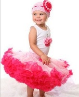 5sets/lot baby girls fashion clothing set flower vest + tutu skirt