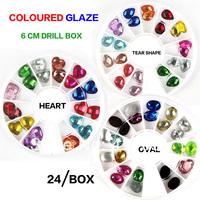 Beauty & Health > Nails Tools > Rhinestones Decorations,new nail art decorations,heart-shaped,Oval,drop shape,24 grain 12 color