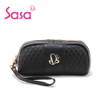 Sasa bags fashion plaid cowhide clutch bag sa15-w0413 candy color day clutch