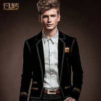 Royal men's clothing New 2014 spring male suit fashion male thin slim blazer 14007