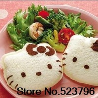Free Shipping Kawaii Hello Kitty Sandwich Mold Bread Cake Mold Maker DIY Mold Cutter Craft Retail