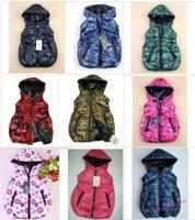 1pcs kids winter hoody coat letter printing hot pink hoodies babys vest boys girls waist coat top clothes