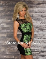 Hot Fancy Form-fitting Stretch Women Dresses,Print Dress,Elegant Lace Dress Plus Size
