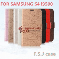 Free Shipping , for Samsung GALAXY  S4 I9500 wallet flip leather case high quality