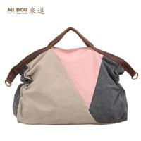Meters 2014 women's handbag fashion handbag cross-body bag canvas casual all-match fashion color block decoration big bag