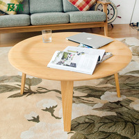 And wood furniture minimalist fashion Eames eames round solid wood coffee table CJ002 creative living room