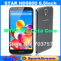 Star HD9800 Phone With MTK6592 Android 4.2 Octa Core 2GB 16GB 3G GPS Gesture Sensing OTG 6.0 Inch Screen SmartPhone