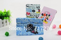 Free shipping,PU Leather 360 Rotating Cartoon Mickey Case Smart Cover Stand For New APPLE iPad 5 5th Gen iPad Air,