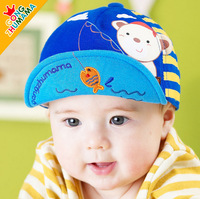Free shipping  baby hat and cap spring and autumn child sunbonnet cap baby baseball cap