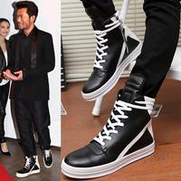 High-top shoes long tongue breathable casual shoes fashion men male skateboarding shoes