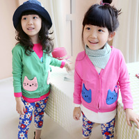 2014 Spring Children clothing wholesale,  pocket outerwear child casual cardigan  , Free shipping